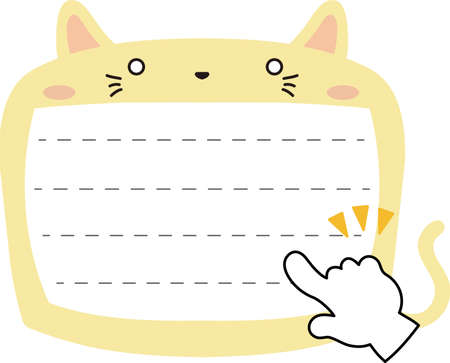 This is a illustration of Cute Cat noteboard Imagens - 131541447