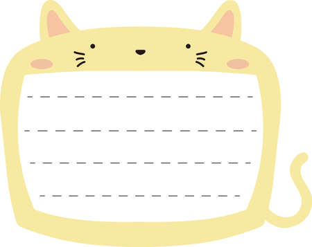 This is a illustration of Cute Cat noteboard Imagens - 131540052