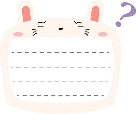 This is a illustration of Cute Rabbit noteboard