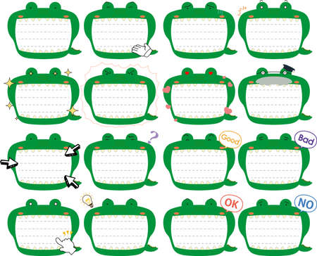 This is a illustration of Cute caiman noteboard