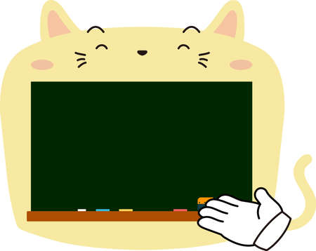 This is a illustration of Cute Cat blackboard Ilustrace