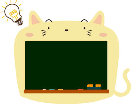 This is a illustration of Cute Cat blackboard  イラスト・ベクター素材