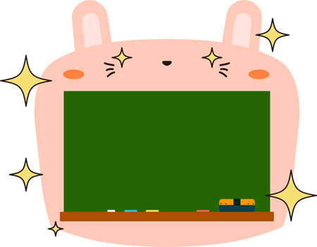 This is a illustration of Cute Rabbit blackboard