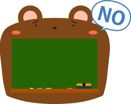 This is a illustration of Cute Bear blackboard 일러스트