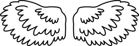 This is a illustration of Cute Angel wings