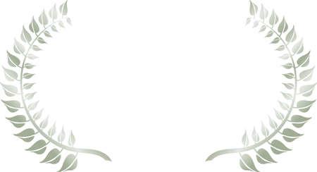 This is a illustration of Wide Round frame of laurel Vektoros illusztráció