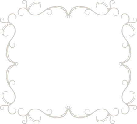 This is a illustration of Square antique pattern frame  Vectores