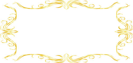This is a illustration of Horizontal rectangular antique pattern frame  Vectores