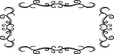 This is a illustration of Horizontal rectangular antique pattern frame