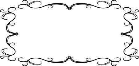 Dies ist eine Illustration des horizontalen rechteckigen antiken Musterrahmens