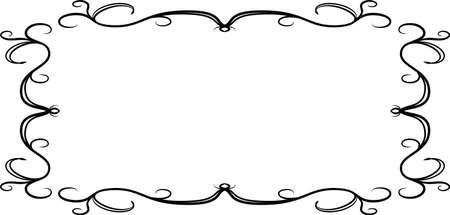 Esta es una ilustración del marco de patrón antiguo rectangular horizontal