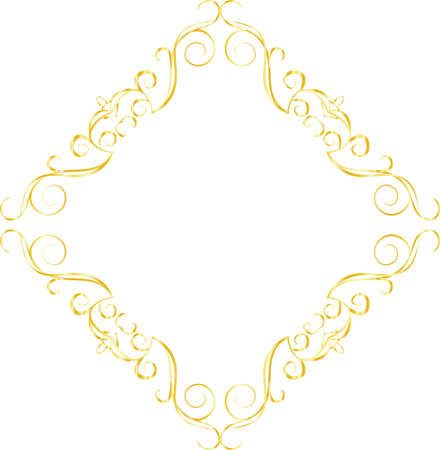 This is a illustration of Diamond antique pattern frame