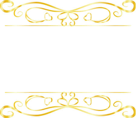 This is a illustration of Top and bottom antique pattern frame
