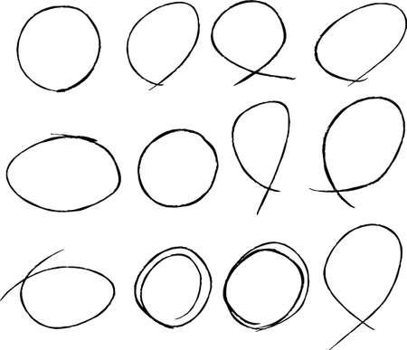 Il s'agit d'une illustration de Variations de cercles fins pour la notation manuscrite