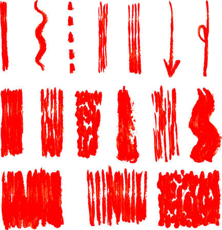 This is a illustration of Variation of handwritten vertical brush line