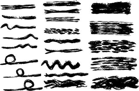 This is a illustration of Variation of handwritten horizontal lines