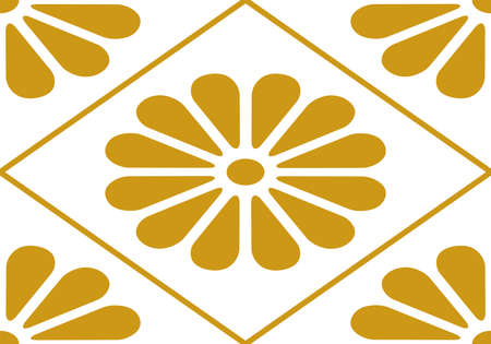 This is a illustration of Chrysanthemum crest Japanese style pattern