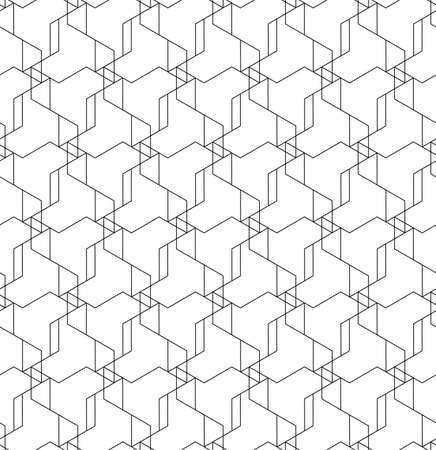 This is a illustration of Seamless Japanese pattern of shapes representing windmills