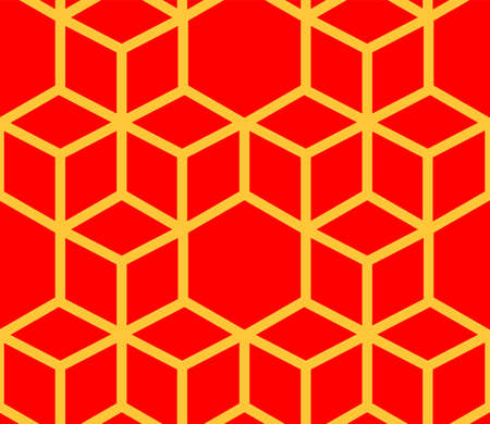 This is a illustration of Seamless Japanese pattern representing the turtle shell