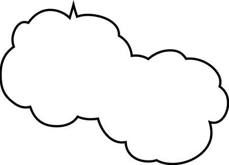 This is a illustration of Cute cartoon cloud speech bubble connected sideways