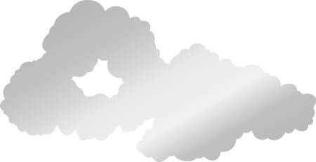 This is a illustration of Japanese clouds connected to each other