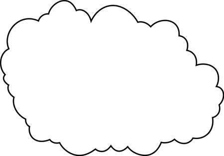 This is a illustration of Japanese clouds Ilustrace