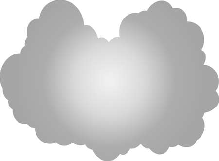 This is a illustration of Japanese clouds Ilustração
