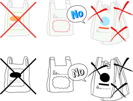 Illustration of I don't need a plastic bag