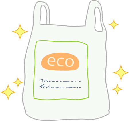 This is a illustration of Biomass plastic shopping bags