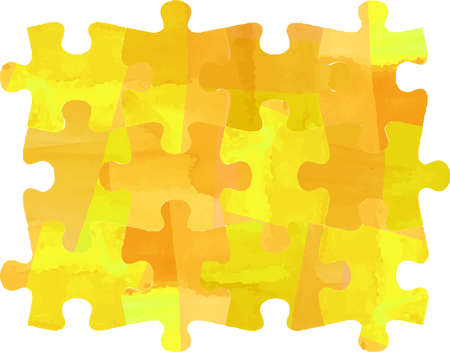This is a illustration of Watercolor Puzzle 向量圖像