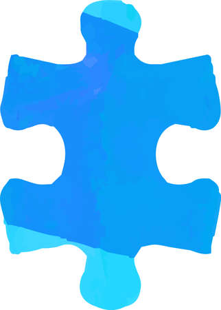 This is a illustration of Watercolor Puzzle
