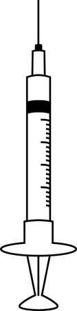 This is a illustration of Monochrome Simple Colorful syringe Ilustração