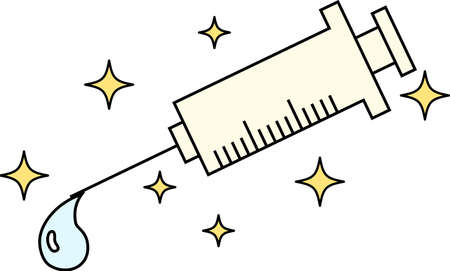 This is a illustration of Cute medical syringe to infuse