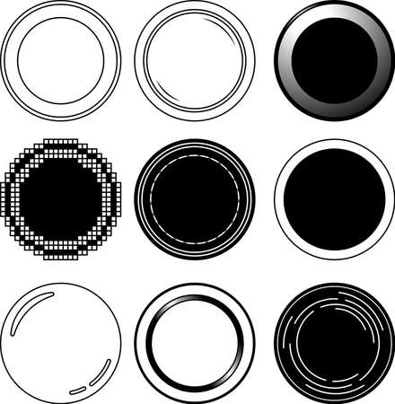 This is a illustration of Monochrome One Coin medal Illustration