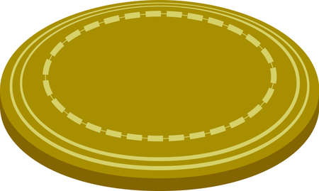 This is a illustration of Coin medals placed on a single plane