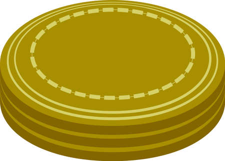 This is a illustration of 3 stacked coin medals