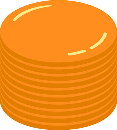This is a illustration of Coin medals piled up a little