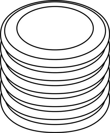 This is a illustration of Monochrome Coin medals piled up a little