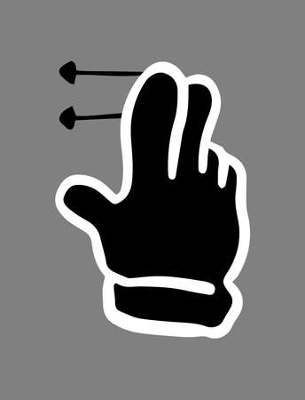 This is a illustration of Touch gesture set drawn with a pen