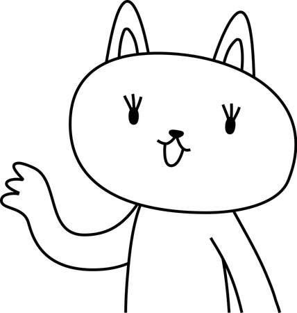 This is a illustration of cat that guides you by pointing your finger