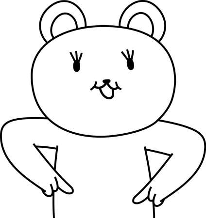 This is a illustration of Polar Bear that guides you by pointing your finger