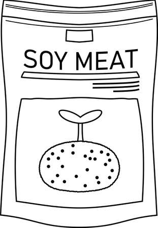 This is a illustration of vegans Meats with soybeans Vectores