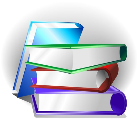 scholars: Books Background  Illustration