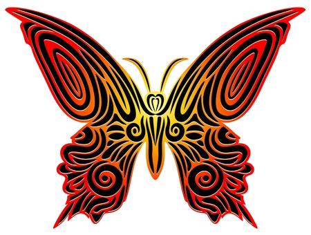 Butterfy Tattoo Vector