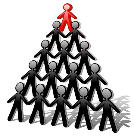 piramide humana: Pirámide de los hombres de éxito Vectores