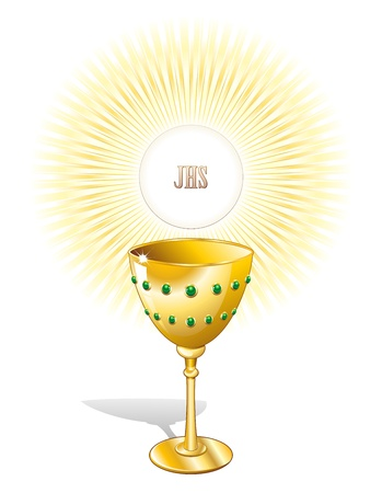 Religion Chalice Cup and Host Illustration