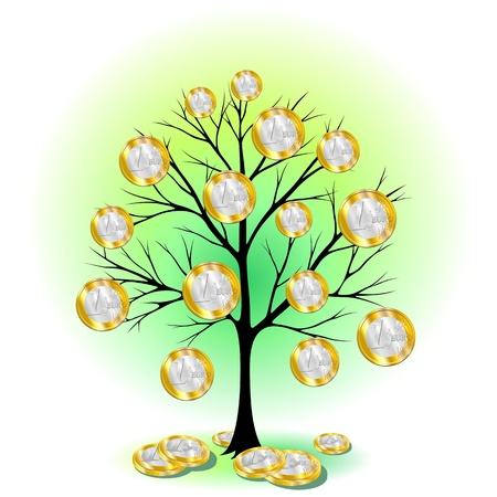 euro coin: Euro Currency Tree