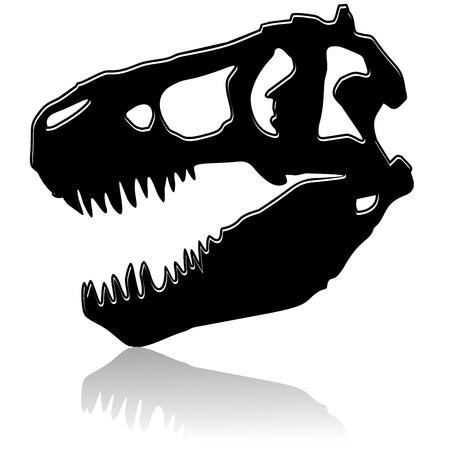 T-Rex Dinosaur Black Skull Stock Vector - 10548848