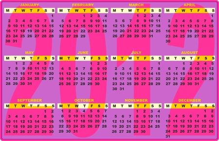 2012 Calendar Pop Vector