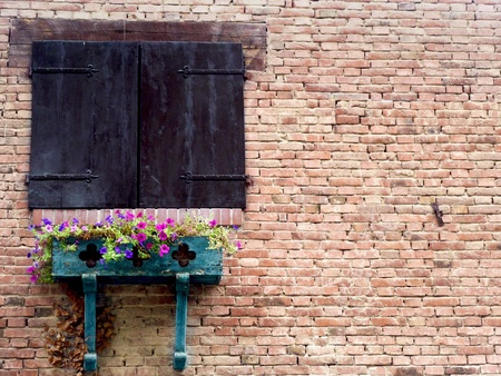 Ancient Old Wood Window photo